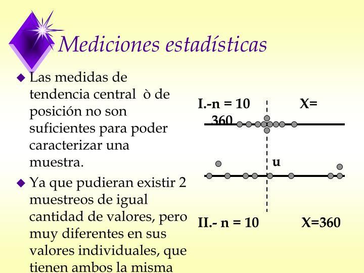 Las medidas de tendencia central  ò de posición no son suficientes para poder caracterizar una muestra.