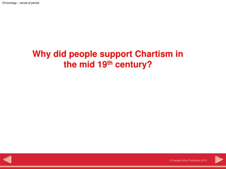 why did the emergence of chartism