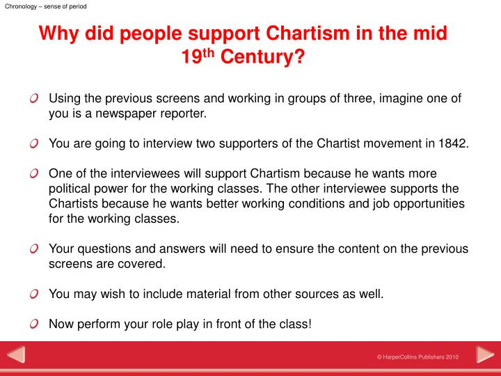 an explanation of what chartism is Chartist ideas were by no means anything new – the great reform act  the act  was extended in 1872 and 1884, meaning almost two-thirds of.