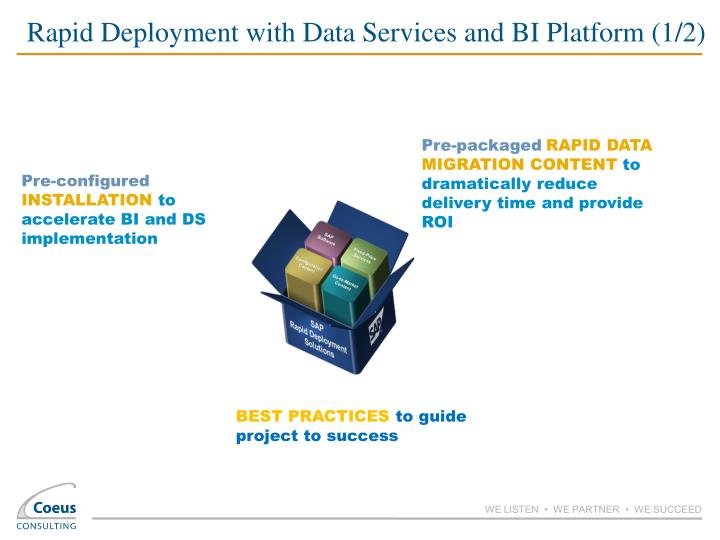 Rapid Deployment with Data Services and BI Platform (1/2)