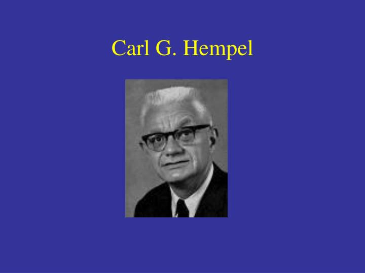 Carl G. Hempel