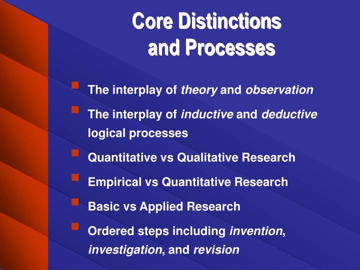 Core Distinctions