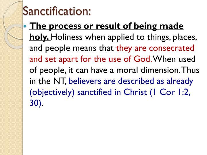 Sanctification: