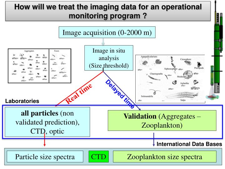 How will we treat the imaging data for an operational monitoring program ?