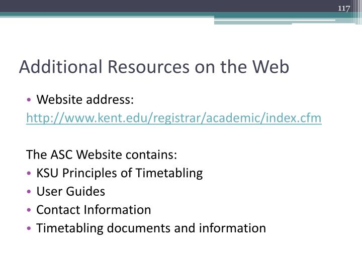 Additional Resources on the Web