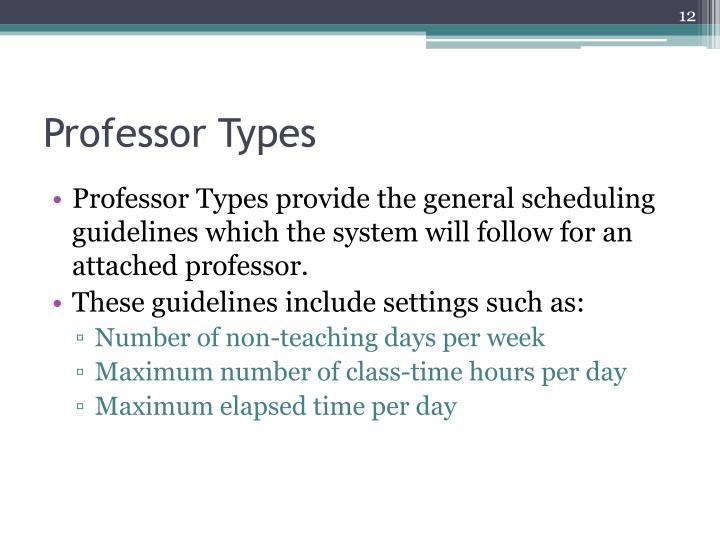 Professor Types