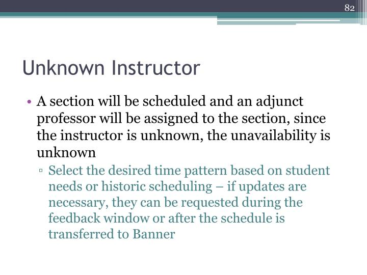 Unknown Instructor