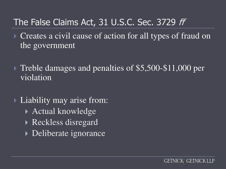 the false claims act False claims act - qui tam 1 provision allows a private person, known as a relator, to bring a lawsuit on behalf of the united states 2the relator information supports that the named defendant has knowingly submitted or caused the submission of false or fraudulent claims to the united states.