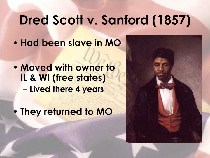 Dred scott v sanford 1857