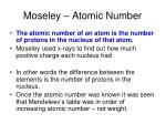 moseley atomic number