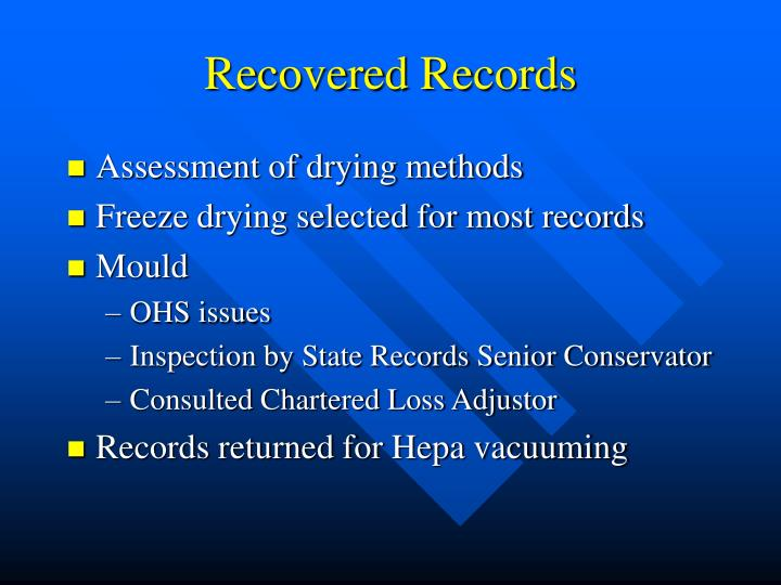 Recovered Records