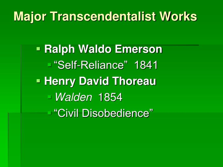 comparison of civil disobedience and self reliance