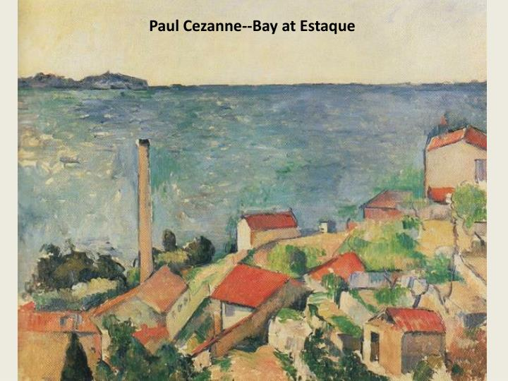 Paul Cezanne--Bay at Estaque