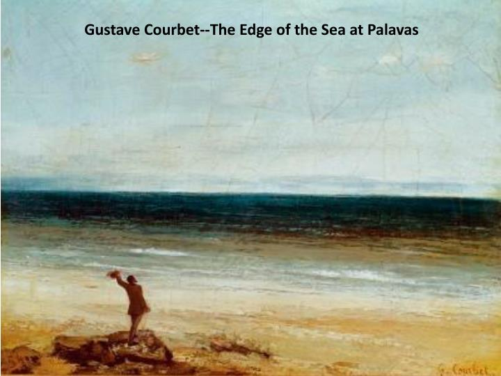 Gustave Courbet--The Edge of the Sea at Palavas