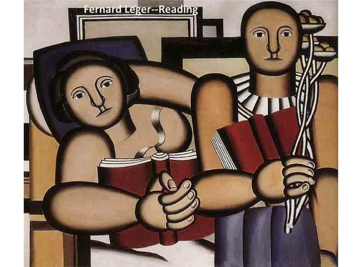 Fernard Leger--Reading