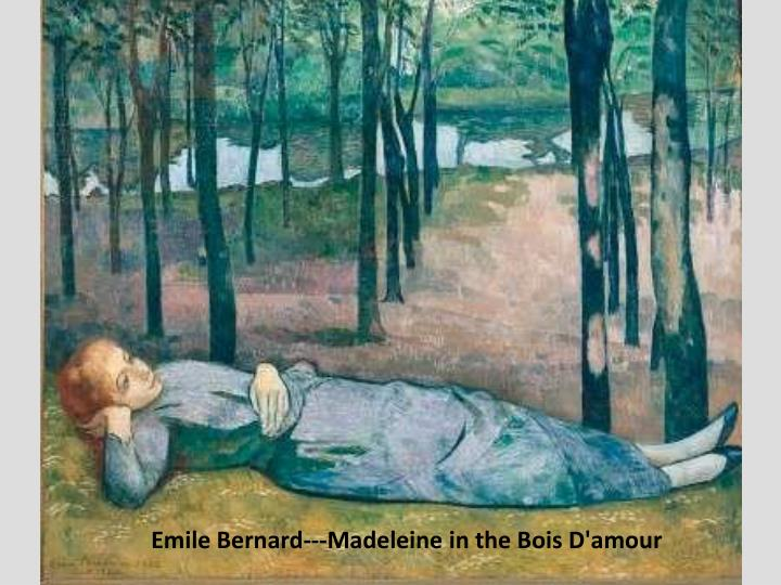 Emile Bernard---Madeleine in the Bois D'amour