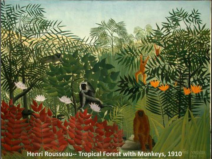 Henri Rousseau-- Tropical Forest with Monkeys, 1910
