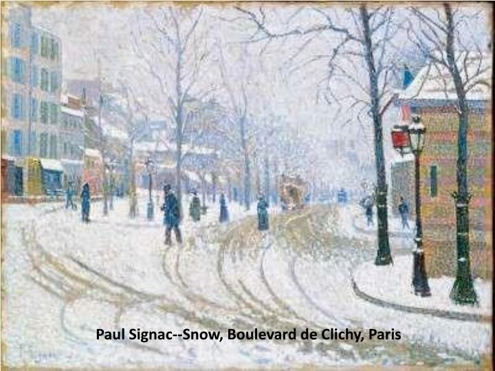 Paul Signac--Snow, Boulevard de Clichy, Paris