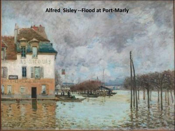 Alfred  Sisley --Flood at Port-Marly