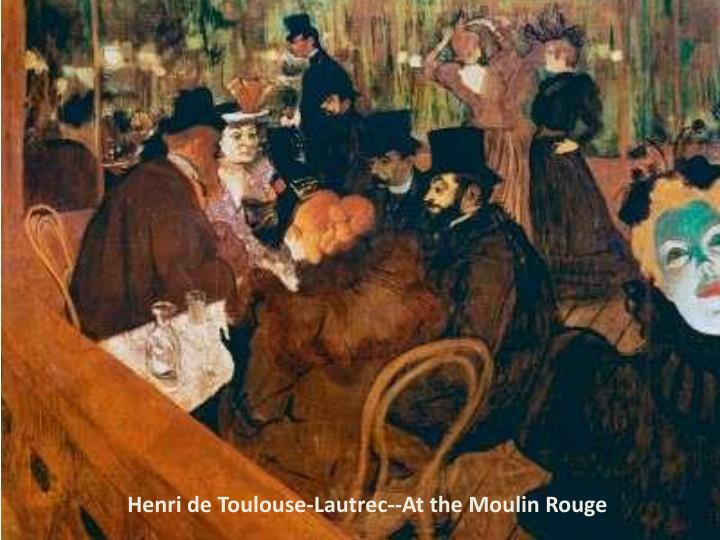 Henri de Toulouse-Lautrec--At the Moulin Rouge