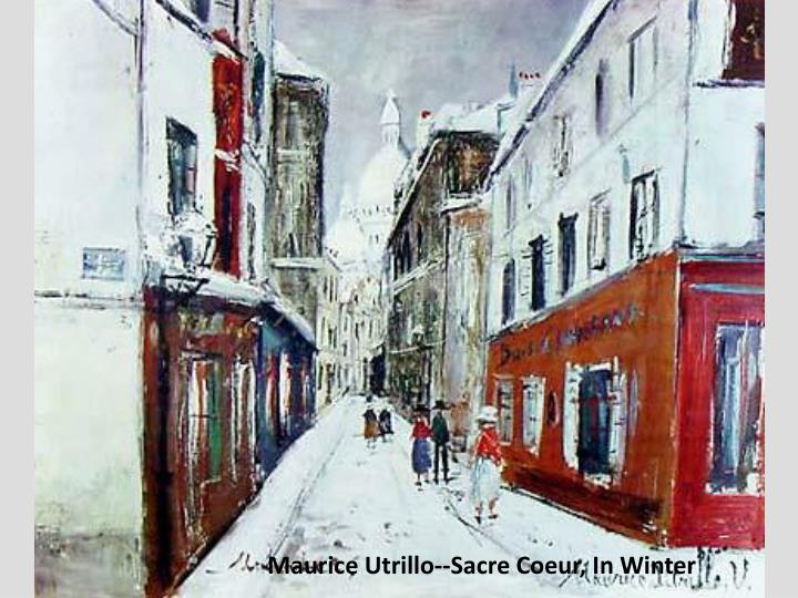 Maurice Utrillo--Sacre Coeur, In Winter