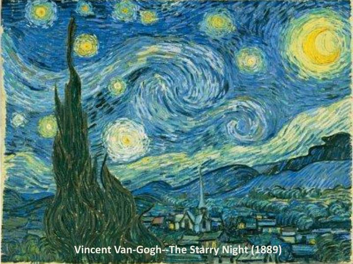 Vincent Van-Gogh--The Starry Night (1889)
