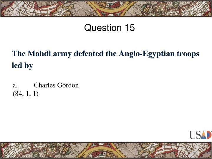 Question 15