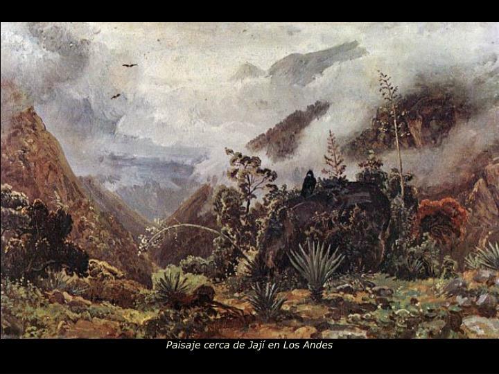 Paisaje cerca de Jají en Los Andes