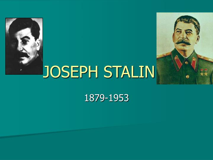 the life and political career of joseph stalin