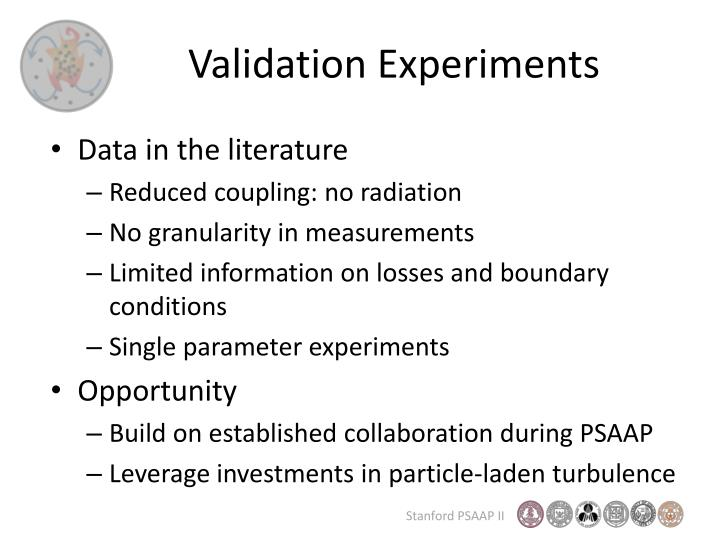 Validation Experiments