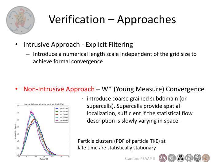 Verification – Approaches