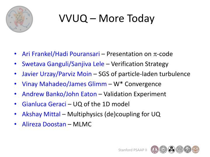 VVUQ – More Today