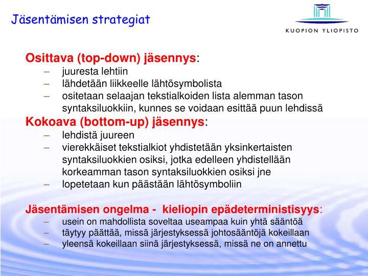 Jäsentämisen strategiat
