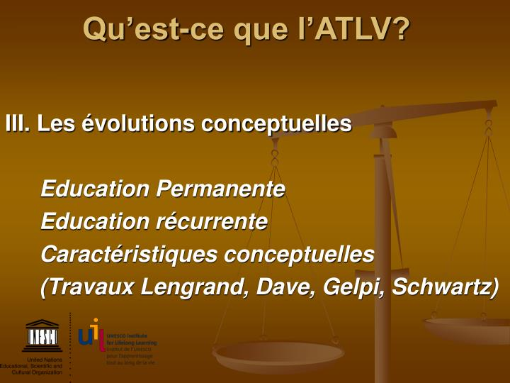 Qu'est-ce que l'ATLV?