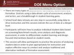 doe menu option