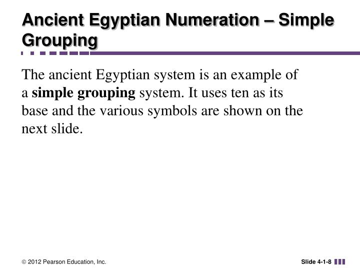 Ancient Egyptian Numeration – Simple Grouping