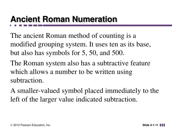 Ancient Roman Numeration