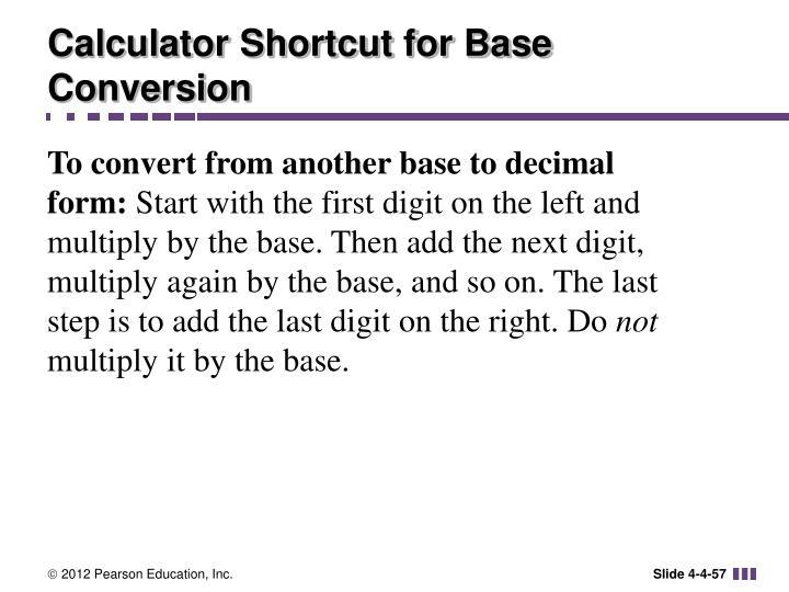 Calculator Shortcut for Base Conversion
