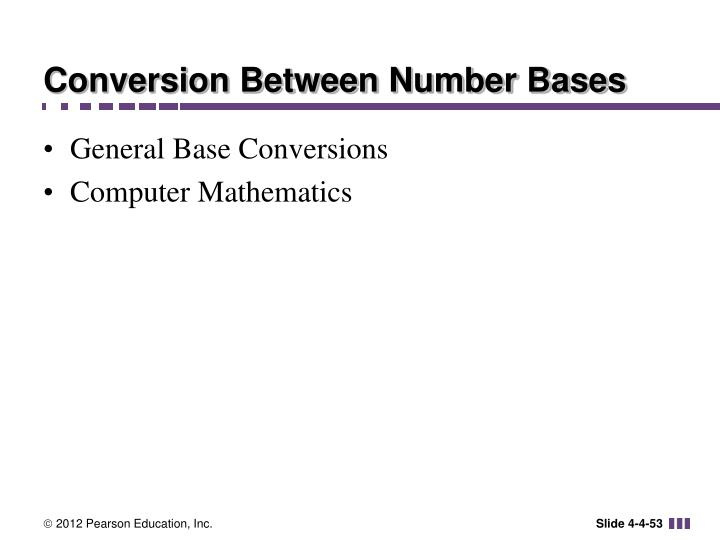Conversion Between Number Bases