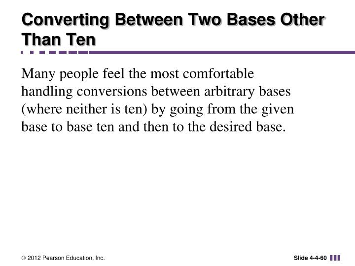 Converting Between Two Bases Other Than Ten