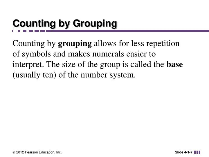 Counting by Grouping