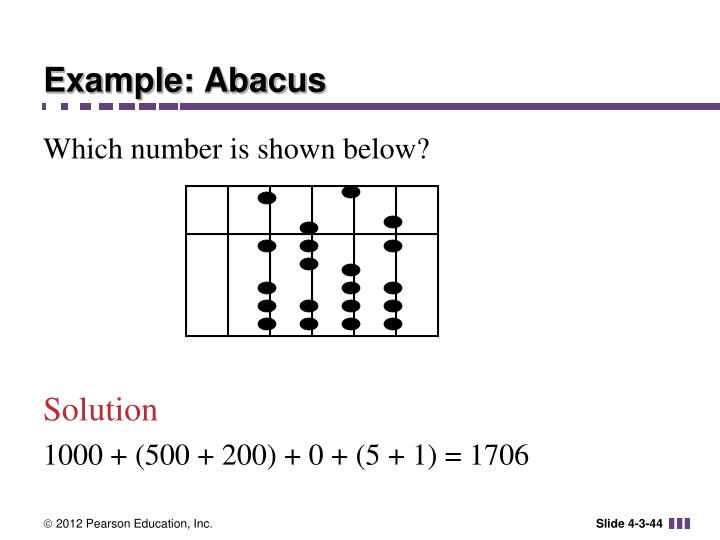 Example: Abacus