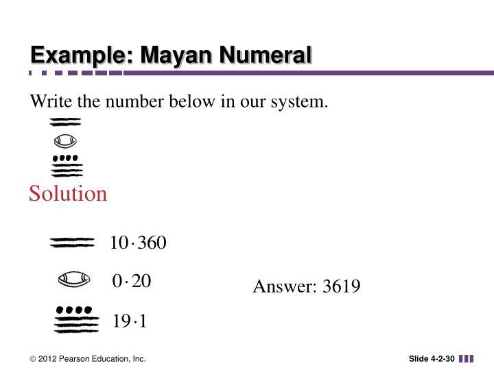 Example: Mayan Numeral