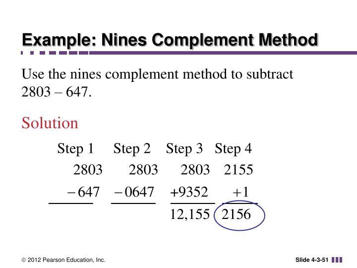 Example: Nines Complement Method