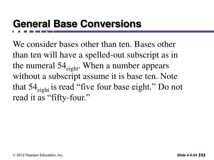 General Base Conversions