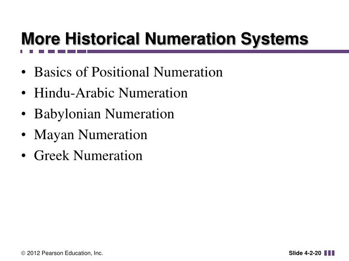 More Historical Numeration Systems