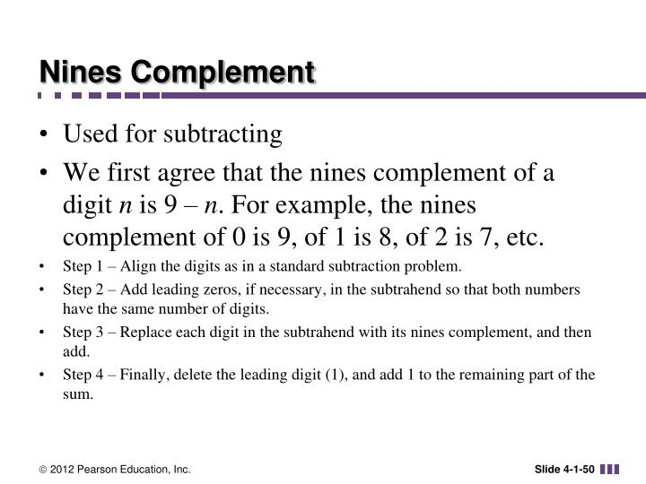 Nines Complement