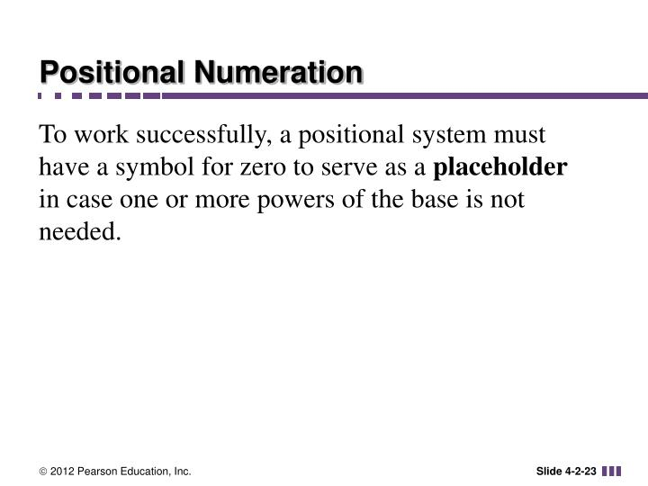 Positional Numeration