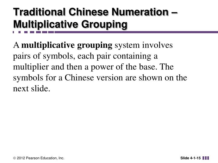 Traditional Chinese Numeration – Multiplicative Grouping