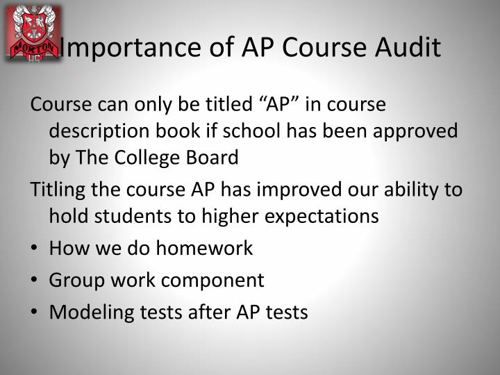 Importance of AP Course Audit